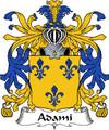 Adami Italian Coat of Arms Print Adami Italian Family Crest Print