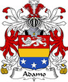 Adamo Italian Coat of Arms Large Print Adamo Italian Family Crest