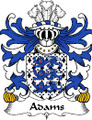Adams Welsh Coat of Arms Print Adams Welsh Family Crest Print