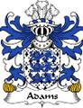 Adams Welsh Coat of Arms Print Adams Welsh Family Crest Print