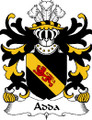 Adda Welsh Coat of Arms Print Adda Welsh Family Crest Print