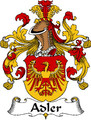 Adler German Coat of Arms Print Adler German Family Crest Print