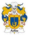 Aellos Spanish Coat of Arms Large Print Aellos Spanish Family Crest