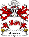 Aeneas Welsh Coat of Arms Large Print Aeneas Welsh Family Crest