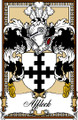 Affleck Bookplate Print Affleck Scottish Family Crest Print