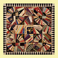 Crazy Fan Quilt Themed Difficult Maxi Wooden Jigsaw Puzzle 250 Pieces