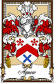 Agnew Bookplate Large Print Agnew Scottish Family Crest Print