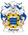Aguayo Spanish Coat of Arms Large Print Aguayo Spanish Family Crest
