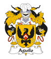 Aguilo Spanish Coat of Arms Print Aguilo Spanish Family Crest Print