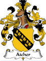 Aicher German Coat of Arms Print Aicher German Family Crest Print