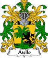 Aiello Italian Coat of Arms Print Aiello Italian Family Crest Print