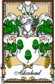 Aikenhead Bookplate Large Print Aikenhead Scottish Family Crest Print