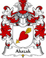 Akszak Polish Coat of Arms Large Print Akszak Polish Family Crest