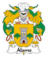 Alamo Spanish Coat of Arms Large Print Alamo Spanish Family Crest