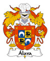 Alava Spanish Coat of Arms Large Print Alava Spanish Family Crest