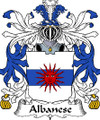 Albanese Italian Coat of Arms Print Albanese Italian Family Crest Print