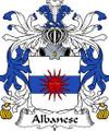 Albanese Italian Coat of Arms Large Print Albanese Italian Family Crest