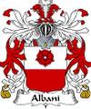 Albani Italian Coat of Arms Print Albani Italian Family Crest Print