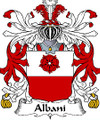 Albani Italian Coat of Arms Large Print Albani Italian Family Crest
