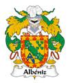 Albeniz Spanish Coat of Arms Print Albeniz Spanish Family Crest Print