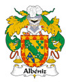 Albeniz Spanish Coat of Arms Large Print Albeniz Spanish Family Crest