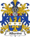 Albertini Italian Coat of Arms Print Albertini Italian Family Crest Print