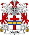 Alberto Italian Coat of Arms Print Alberto Italian Family Crest Print