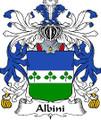 Albini Italian Coat of Arms Print Albini Italian Family Crest Print