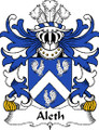 Aleth Welsh Coat of Arms Print Aleth Welsh Family Crest Print