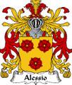 Alessio Italian Coat of Arms Print Alessio Italian Family Crest Print