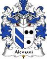 Alemani Polish Coat of Arms Print Alemani Polish Family Crest Print