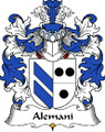 Alemani Polish Coat of Arms Large Print Alemani Polish Family Crest