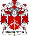 Alexandrowicz Polish Coat of Arms Print Alexandrowicz Polish Family Crest Print