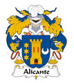 Alicante Spanish Coat of Arms Print Alicante Spanish Family Crest Print