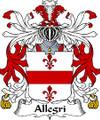 Allegri Italian Coat of Arms Print Allegri Italian Family Crest Print
