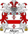 Allegri Italian Coat of Arms Large Print Allegri Italian Family Crest