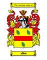 Allen Coat of Arms Surname Print Allen Family Crest Print