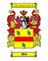 Allen Coat of Arms Surname Large Print Allen Family Crest