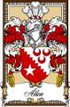 Allen Bookplate Print Allen Scottish Family Crest Print