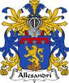 Allesandri Italian Coat of Arms Print Allesandri Italian Family Crest Print