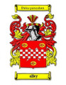Alley Coat of Arms Surname Print Alley Family Crest Print