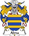 Alma Spanish Coat of Arms Print Alma Spanish Family Crest Print