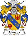 Almada Spanish Coat of Arms Print Almada Spanish Family Crest Print