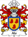 Alo Welsh Coat of Arms Large Print Alo Welsh Family Crest