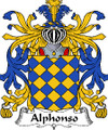 Alphonso Italian Coat of Arms Large Print Alphonso Italian Family Crest