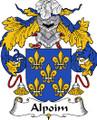 Alpoim Spanish Coat of Arms Large Print Alpoim Spanish Family Crest