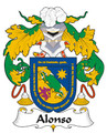 Alonso Spanish Coat of Arms Print Alonso Spanish Family Crest Print