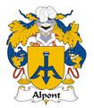 Alpont Spanish Coat of Arms Large Print Alpont Spanish Family Crest