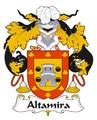 Altamira Spanish Coat of Arms Large Print Altamira Spanish Family Crest