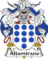 Altamirano Spanish Coat of Arms Print Altamirano Spanish Family Crest Print